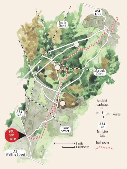 Cannock Chase Map Cannock Chase Heritage Trail Cannock Chase Map