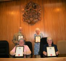 The four new Aldermen and Alderwomen of Cannock Chase Council