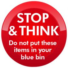blue bin stop and think cannock chase district council
