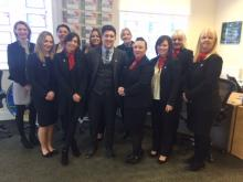 Staff from C Residential in Rugeley