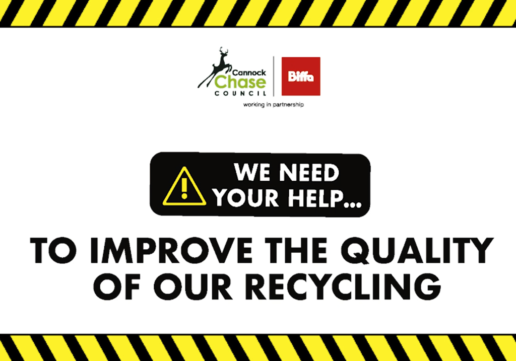 We need your help to improve the quality of our recycling