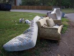 fly-tipped mattresses and sofas