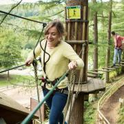Person on Go Ape