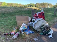 Litter near Marquis Drive