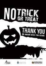 No Trick or Treat window sticker
