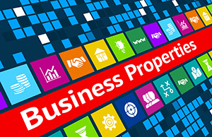 business properties graphic and symbols