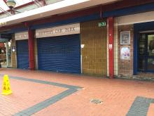 Shutters in Cannock Town Centre
